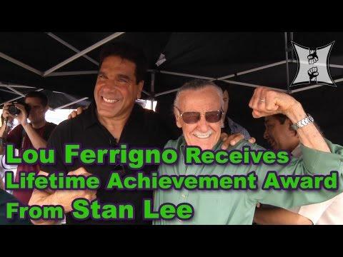 "Legend Stan Lee Says Lou Ferrigno ""Was Born To Be The Hulk"" + Presents Lifetime Achievement Award"