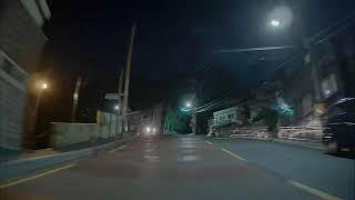 파인뷰 LX3 룸미러블랙박스, 야간 주행 후방녹화영상(…