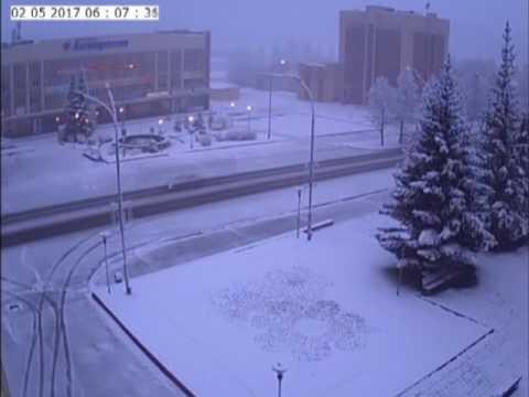 Анжеро-Судженск. Зима за одну ночь.