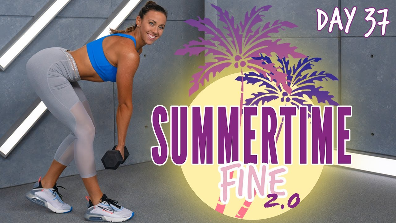 50 Minute Abs & Butt HIIT Workout   Summertime Fine 2.0 - Day 37