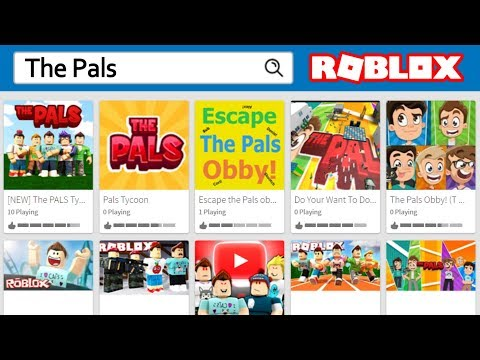 PLAYING PALS GAMES ON ROBLOX!