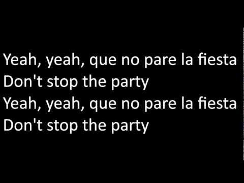 Pitbull - Don't stop the party (Letra/Lyrics)