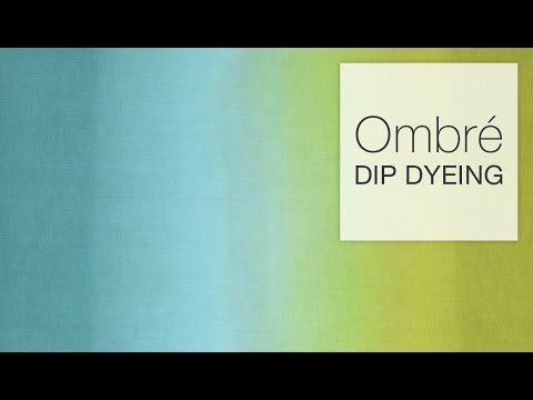 How To Dye Fabric Ombr Dip Dye Technique Youtube