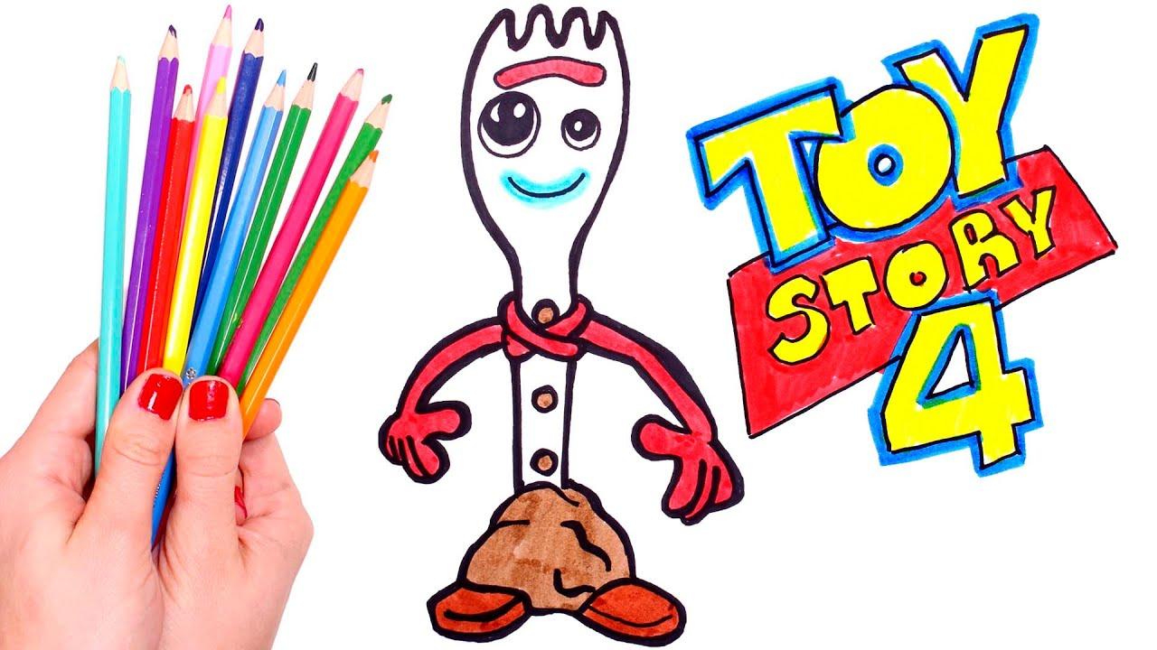 Dibuja Y Colorea A Forky De Toy Story Dibujos Para Niños
