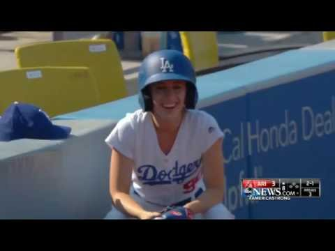 6f3a208fe652 Ball Girl at Dodger Stadium Saves Fan From Ball Traveling 108 MPH ...