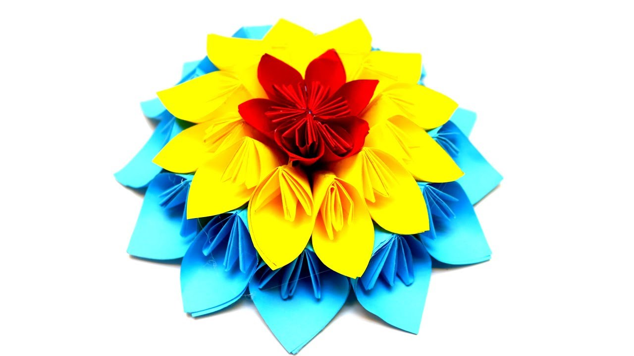 Diy how to make a kusudama paper flower easy origami kusudama flower diy how to make a kusudama paper flower easy origami kusudama flower emma diy 55 mightylinksfo