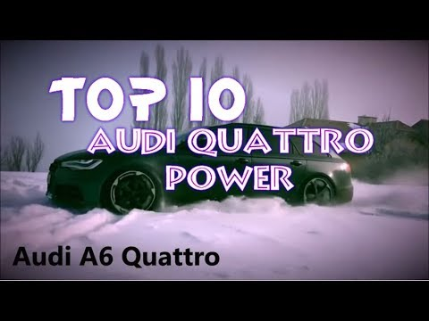 Audi Power - Audi Quattro Power in snow - TOP 10 😳 ❄️ 😳