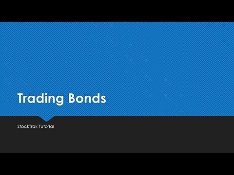 Platform Trading Tutorials – Trading Bonds