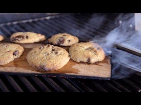 Homemade Bacon Chocolate Chip Cookies Recipe - Cedar Plank Smoked On A Blaze Gas Grill