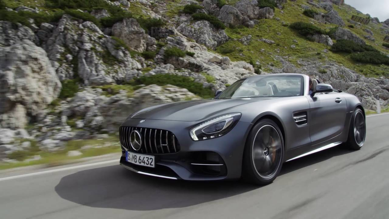 Mercedes Benz AMG GTC C Roadster - drive scenes - YouTube