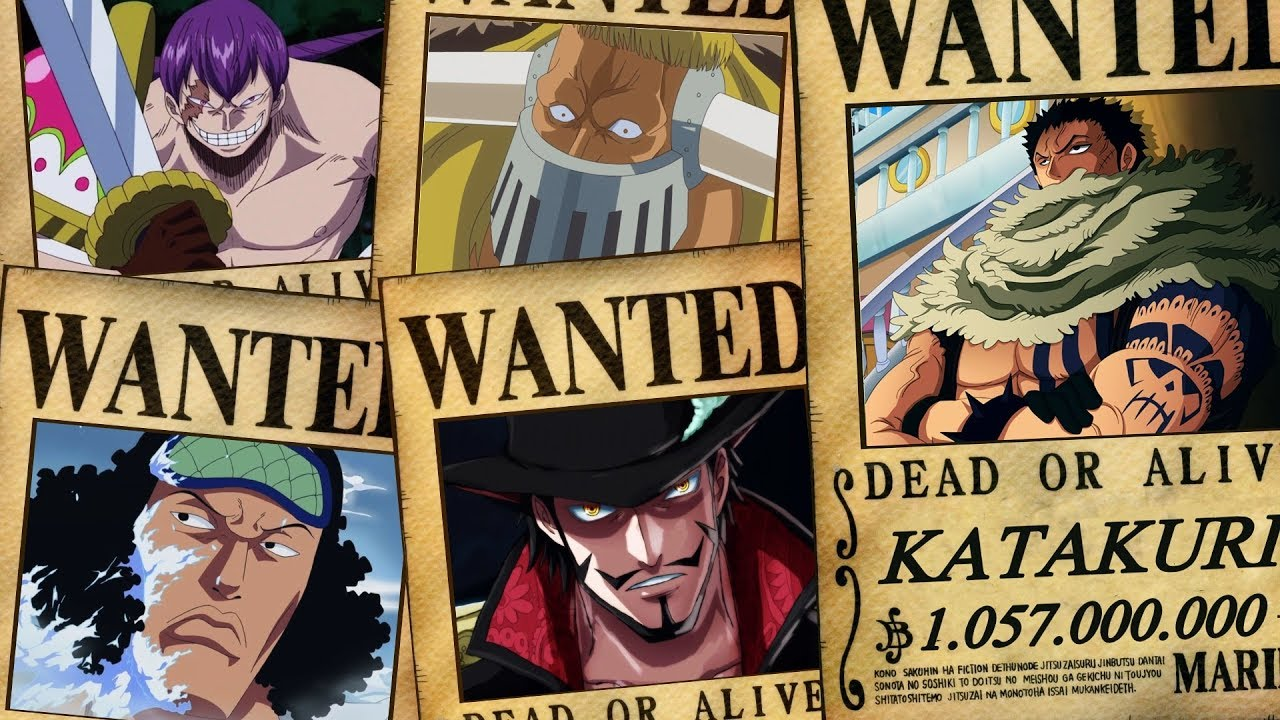one piece top 10 highest known bounties chapter 863