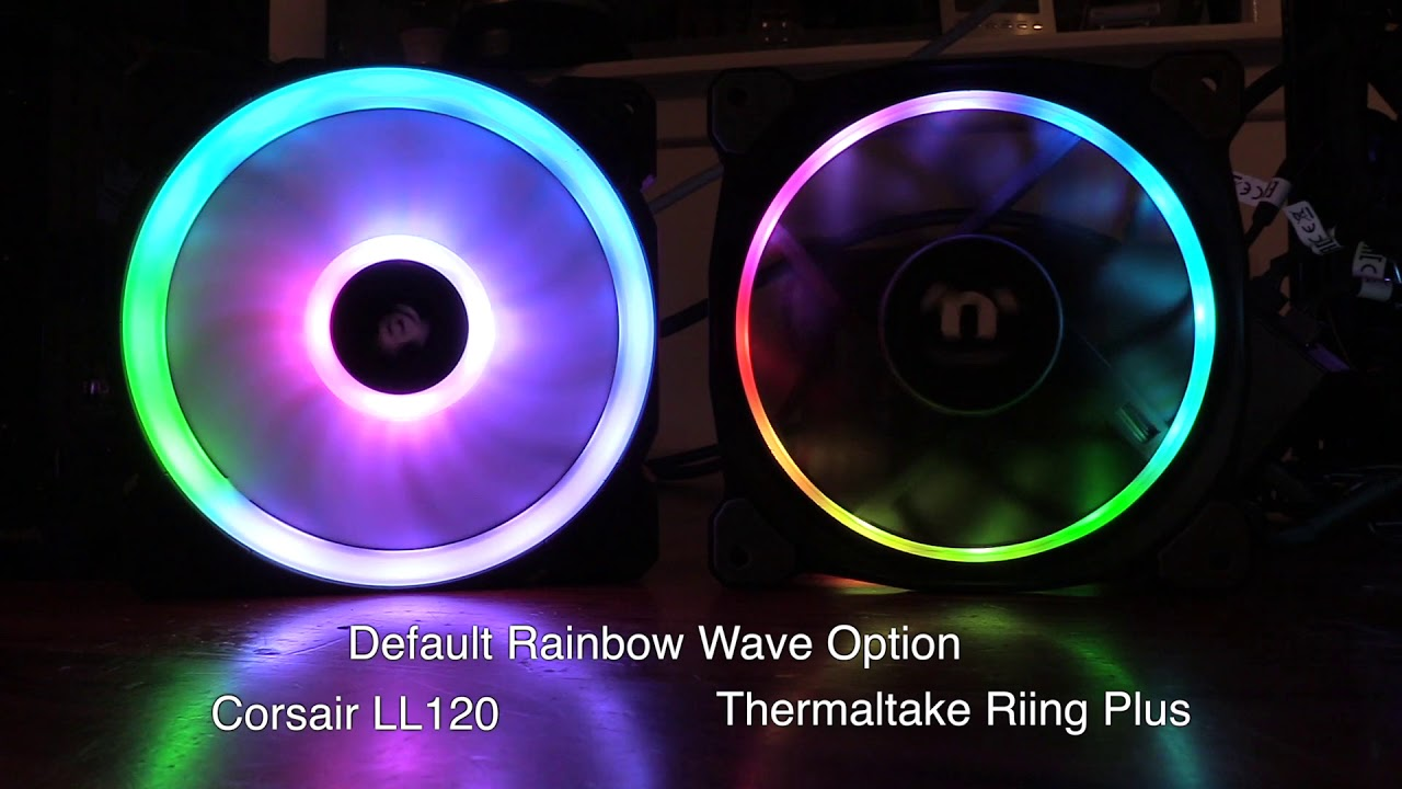 Corsair LL120 RGB Fans vs Thermaltake Riing Plus Fans