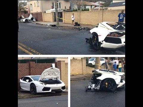 Lamborghini Aventador Crash Split In Half Youtube