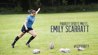 Emily Scarratt England Womens's Rugby Interview with O2 Priority Sports