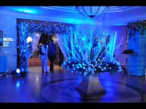 Blue White Theme In Wedding