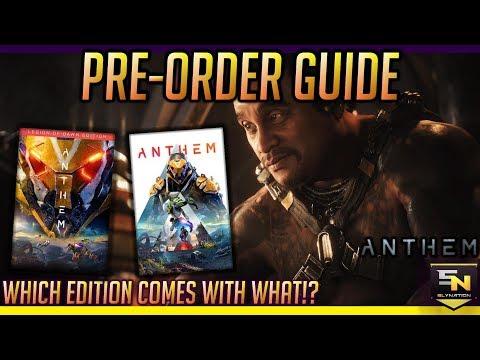Anthem   Pre Order Guide- Standard vs Legion of Dawn Edition vs Origin Premiere