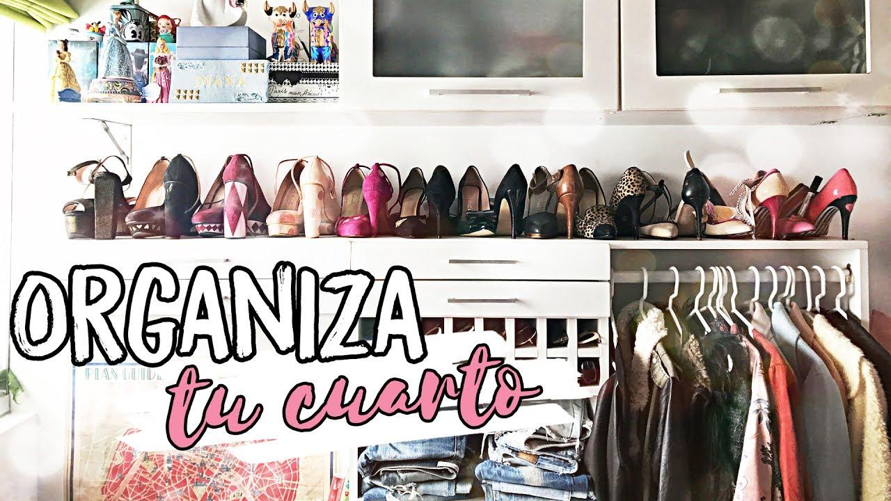 Como ordenar y organizar tu cuarto tips f ciles y - Como hacer un closet en una habitacion ...