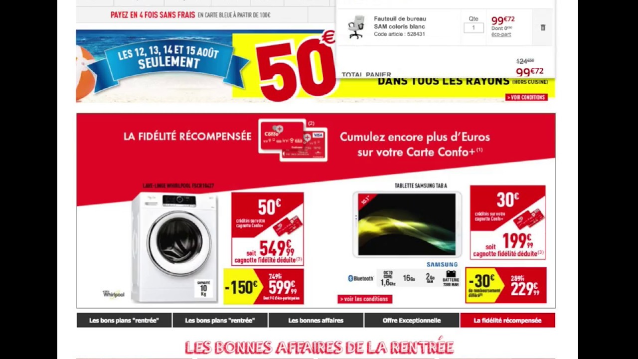 Conforama Comment Ajouter Un Code Promo France Youtube