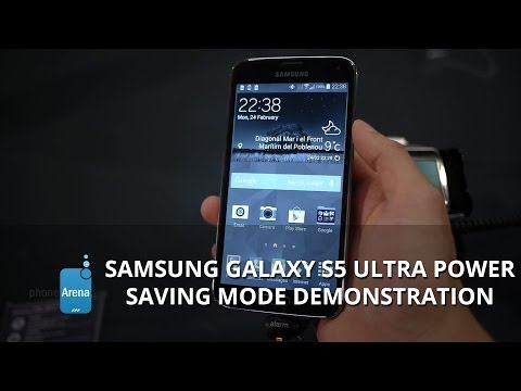 Samsung Galaxy S5 Ultra Power Saving mode demonstration