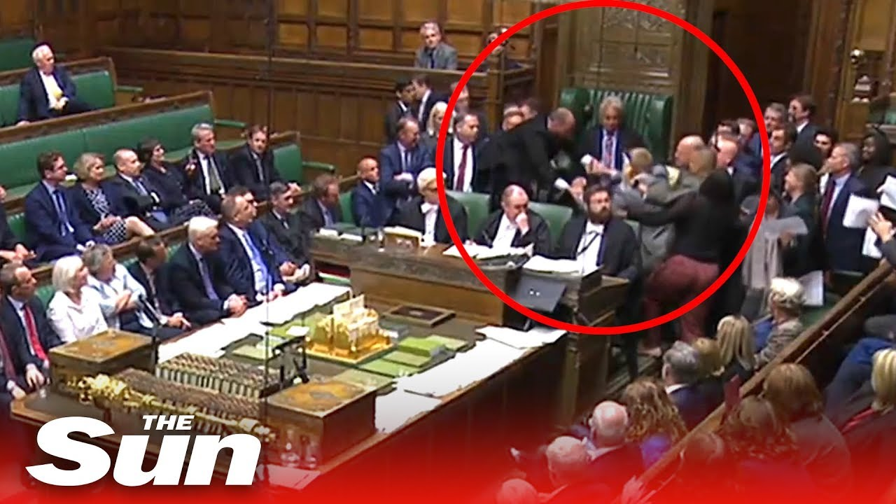 Scuffles break out in the Commons as Parliament is prorogued
