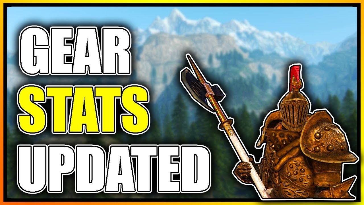 For honor gear stats guide updated going into season 6 the stats i use youtube - When is for honor season 6 ...
