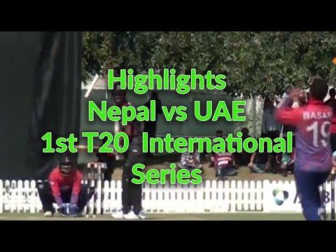 Highlights: Nepal vs UAE 1st T20 International Series