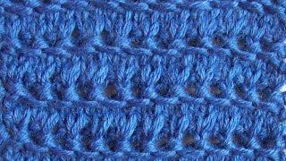 Ажурный узор Ажурная цепочка Вязание спицами Видеоурок 19