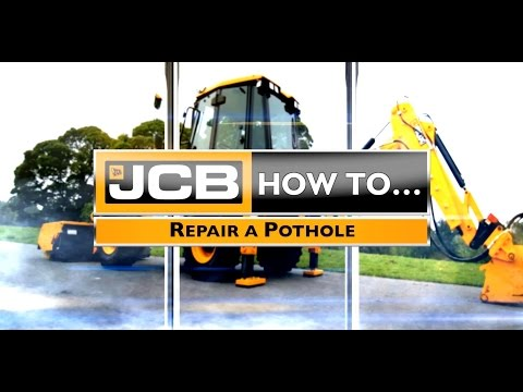 How to Fix a Pothole with the JCB 3CX Compact Backhoe Loader