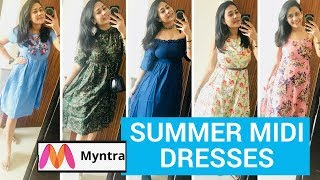 MYNTRA MIDI DRESS HAUL - EORS SALE + GIVEAWAY WINNERS