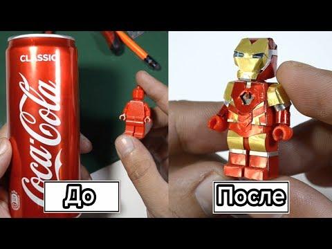 Самодельная Лего- фигурка Железного человека из банки от кока колы