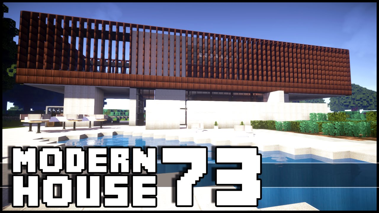 Minecraft modern house 73 youtube for Minecraft modern house 9minecraft