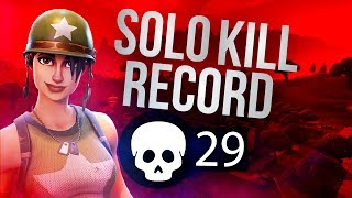 SOLO KILL RECORD **29**Fortnite World Record