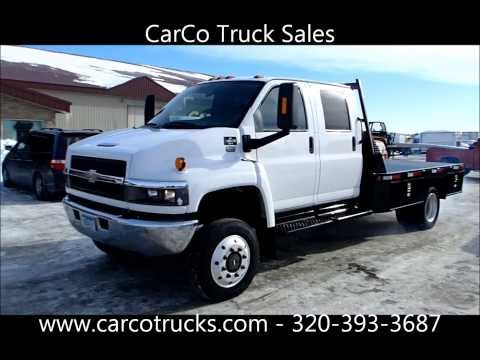 Chevrolet C4500 4x4 Crew Cab Flatbed For Sale by CarCo Truck Sales - SOLD