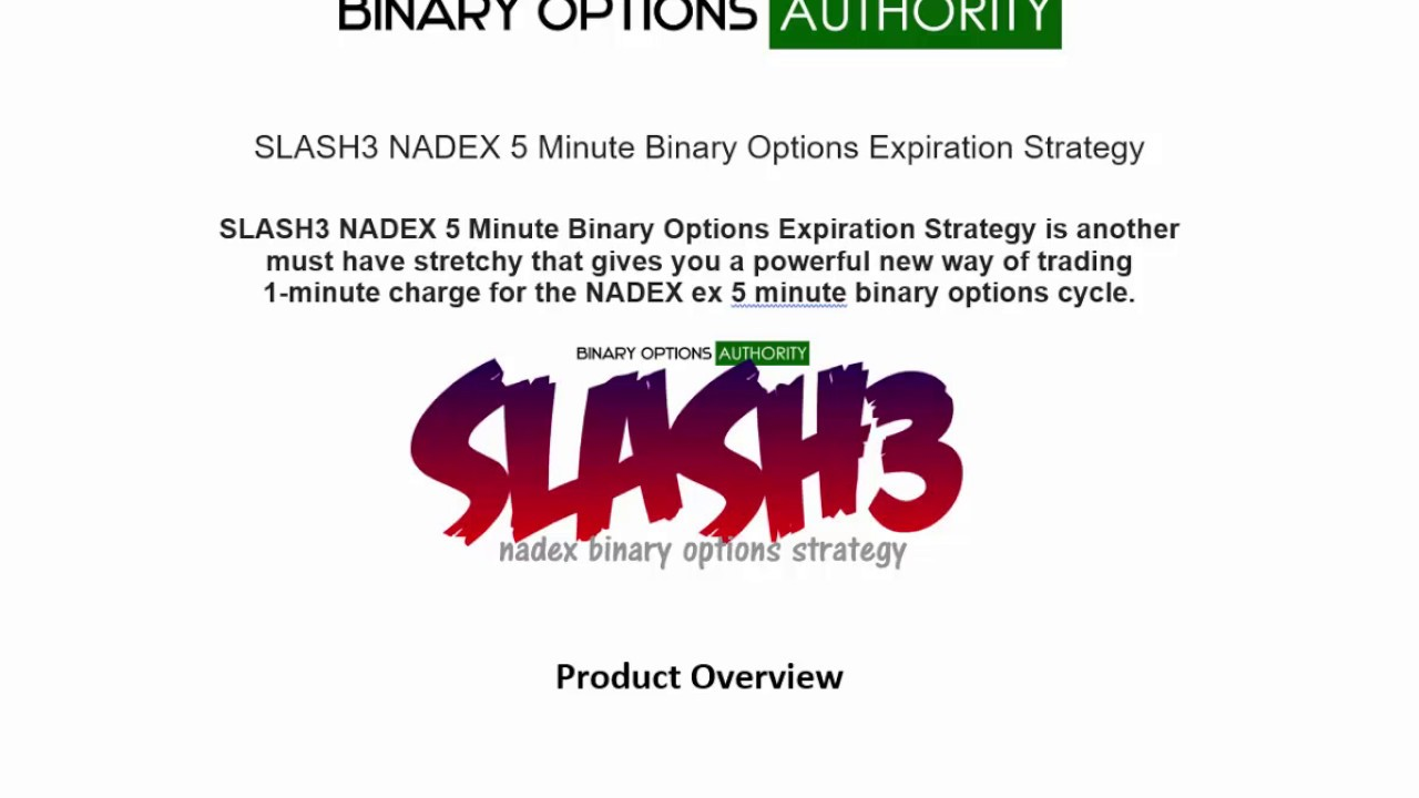 5 minute expiry binary options strategy