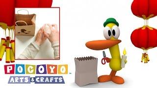 Покойо: Игры и поделки - Бумажный светильник с Пато! Поделки своими руками для детей