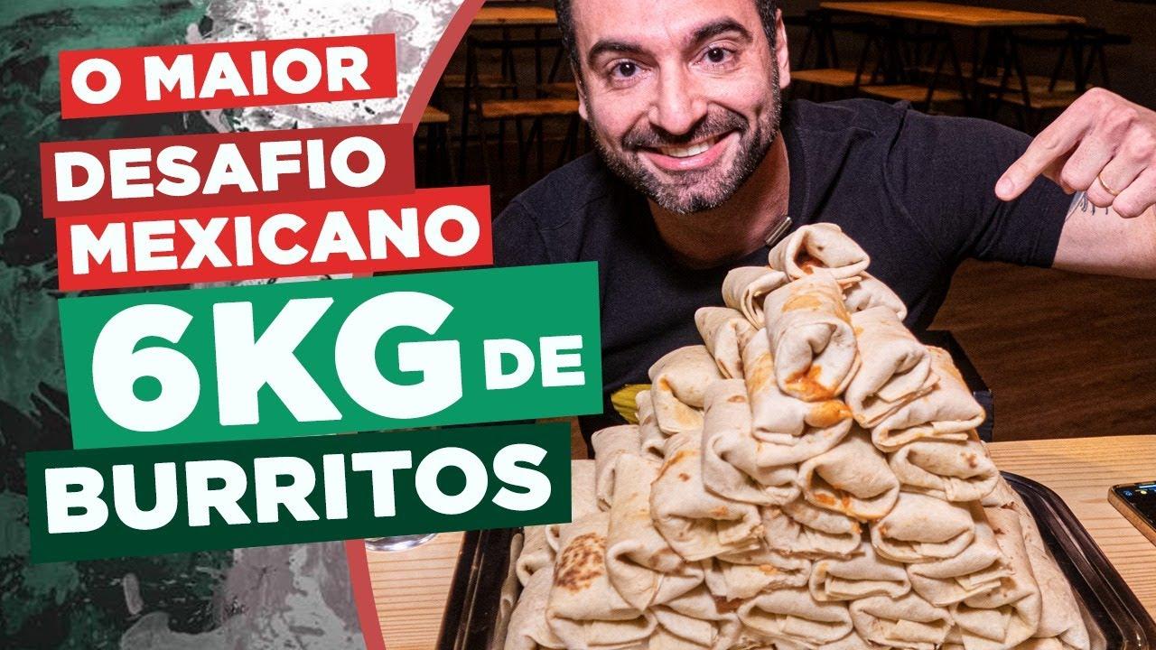 O MAIOR DESAFIO MEXICANO! 6kg DE BURRITO! [SALVE A TOCA]