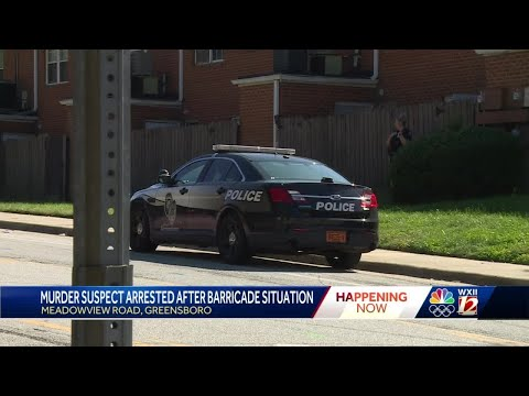 Police arrest murder suspect who barricaded himself inside Greensboro apartment