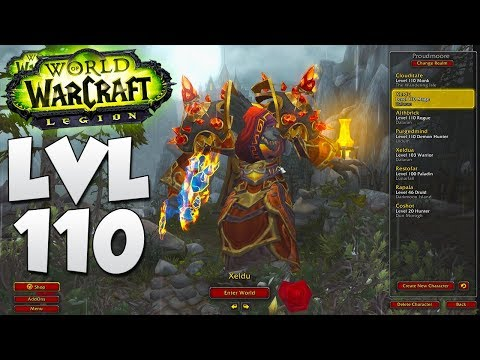 Legion: My WoW Character List! Level 110 | Patch 7.3.2 Update 2017 (World of Warcraft)