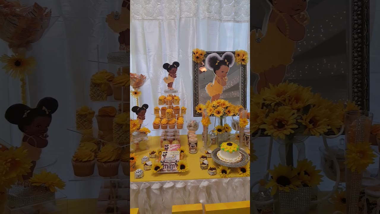 Black Baby With Afro Puff Baby Shower Youtube