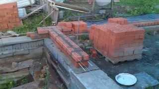 Строим дом, дом из кирпича, строим сами, сам строй