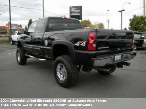 Lifted 2009 Gmc Sierra >> 2004 Chevrolet Lifted Silverado 2500HD , $23979 at Auburns Auto Pointe in AUBURN, WA - YouTube