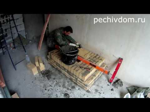 Как построить камин своими руками видео