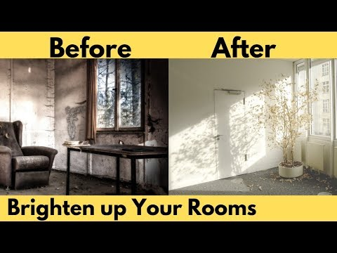 7 Tricks To Brighten Up A Dark Room! | Home Improvement Tips.