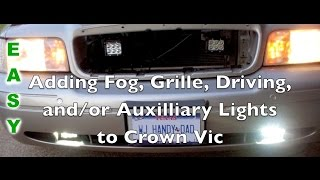 P71 Crown Vic fog/driving & grille light install