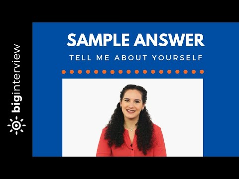 Tell Me About Yourself - Sample Answer (Food Service / Hospitality)