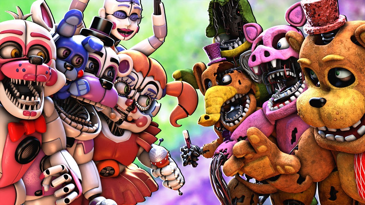 [SFM FNaF] Withered Melodies vs Sister Location