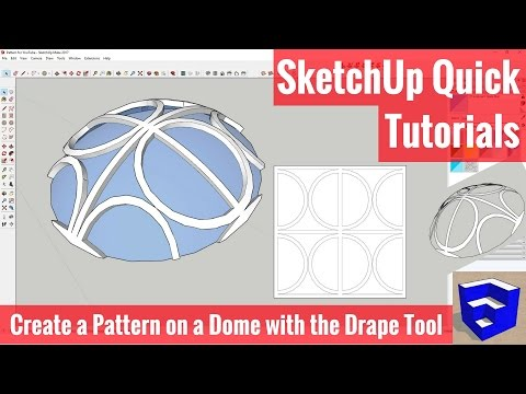 Creating a Pattern on a Dome with the Drape Tool - SketchUp Quick Tutorials
