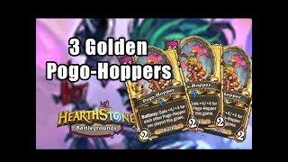 3 Golden Pogo-Hopper | Hearthstone Battlegrounds