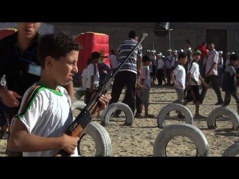 Gaza children play war in Hamas summer camp
