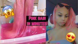 HOW TO: SLAY PASTEL PINK HAIR USING WATERCOLOR METHOD #VLOG FT. ALIPEARL HAIR